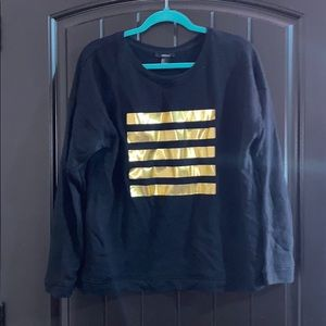 Forever 21 Sweatshirt with Gold stripes